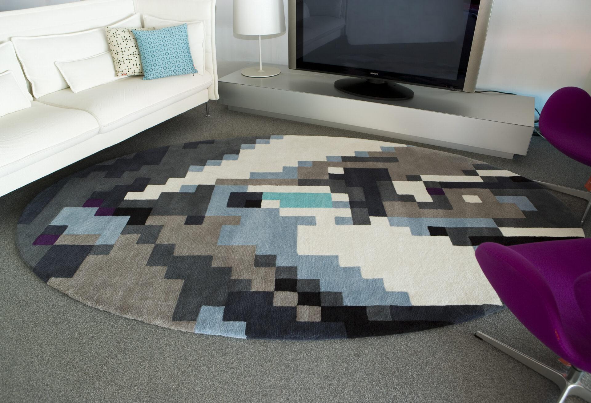 alfombra de lana 100 tejida con diseo y forma especial - Alfombras De Diseo