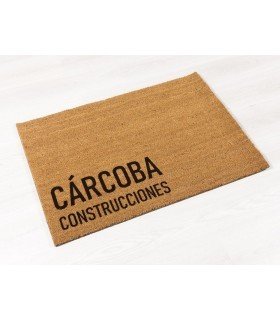 Felpudo a medida de Coco con Logotipo. Ejemplos para clientes.