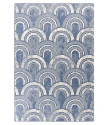 Floor. Azul. Alfombra de lana.