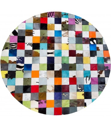 Patchwork Multy Colores. Alfombra Redonda.