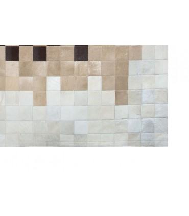 Alfombra de Piel Degradado Marrón-Beig-Blanco.