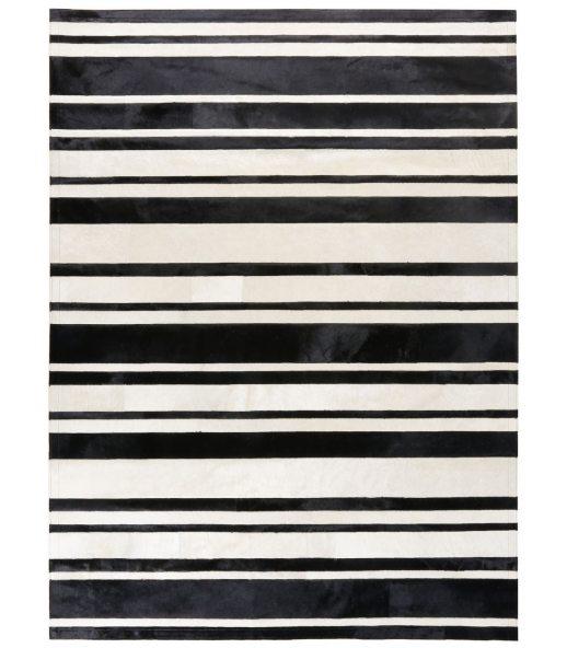 White Stripes. Alfombra de Piel.
