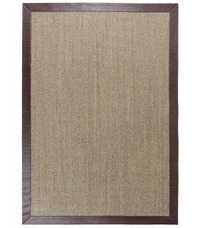 Sisal Ibiza. Alfombra de 170x240 cm Borde Piel Sintética Avestruz.