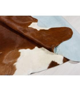 Alfombra Piel de Vaca Blanca y Marrón 341