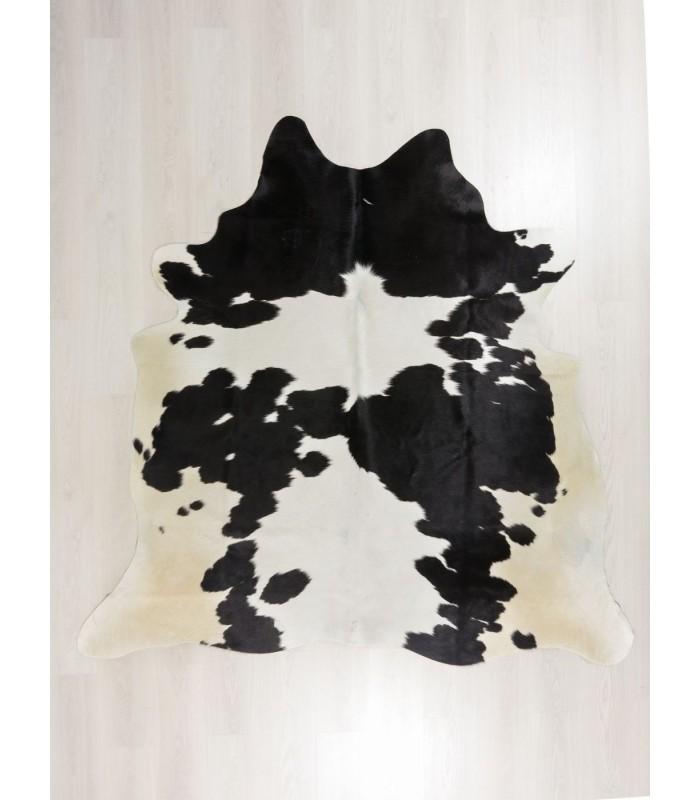 Alfombra de Piel de Vaca Blanca y Negra 304