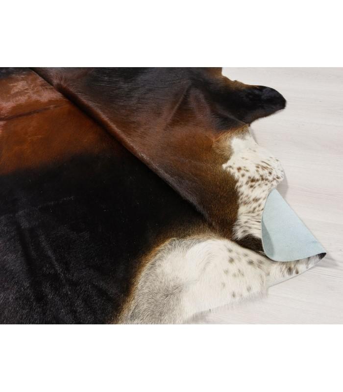 Alfombra Piel de Vaca Marrón y Blanca 342