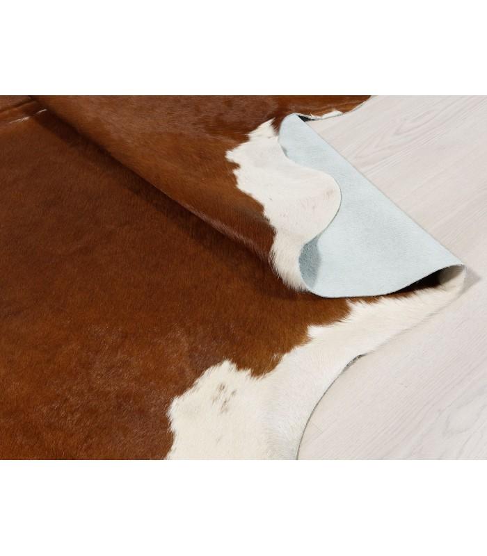 Alfombra Piel de Vaca Blanca y Marrón 309