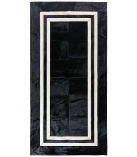 Alfombra de Piel a Medida BM1. Color Negro.
