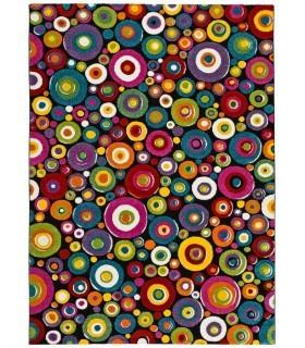 Arco 42. Alfombra círculos de colores.