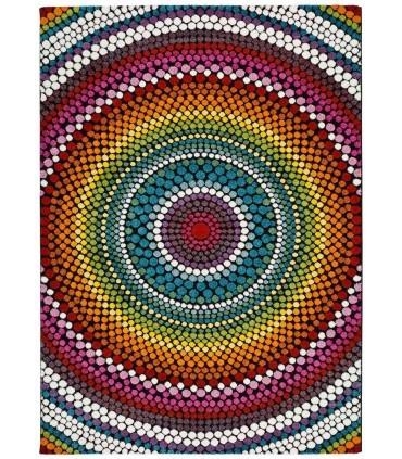 Arco 44. Alfombra círculos de colores.