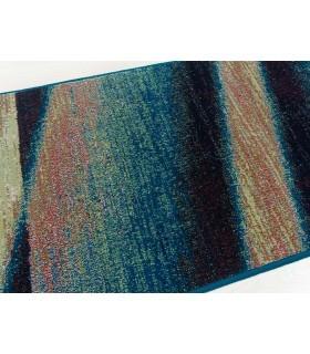 Degrade Azul. Alfombra de lana Outlet 60X240.