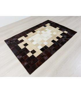 Alfombra de Piel Degradado Marrón-Beig-Blanco Colores Invertidos por diseño de Cliente.