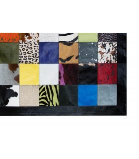 Alfombra Piel Patchwork Multy Colores 20x20 cm.