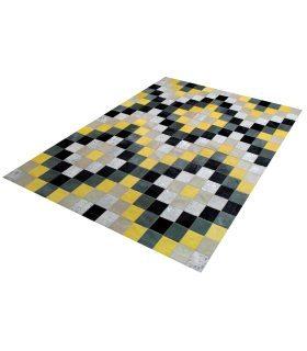 Alfombra de Piel Mosaico Rombos 10x10