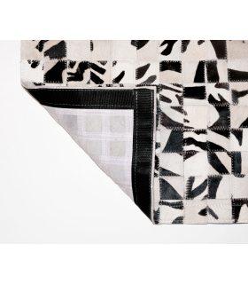 Alfombra Piel de Cebra Patchwork Cuadros 5x5 cm.