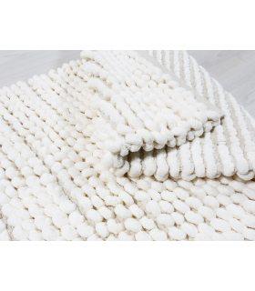 Alfombra Coral Nudos. Color Blanco Natural.