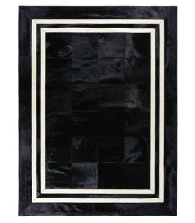 Alfombra de Piel a Medida BM1. Color Negro. 180x240 cm.