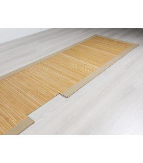 Alfombra de pasillo de Bambú con Cenefa de Yute. Forma especial para cliente.