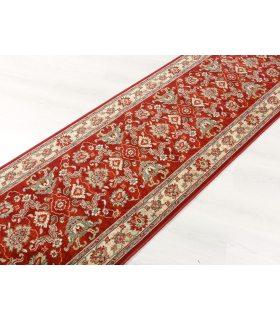 Alfombra de lana Pasillero de 90 cm de ancho Persia 822 Color Granate.