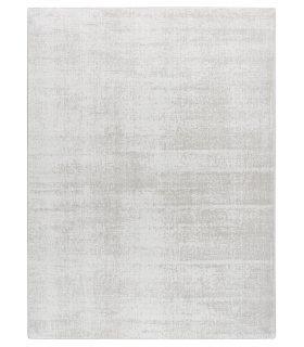 Alfombra Lunar Silk. Color White. Medidas 170x230. Borde Festón de Cinta.