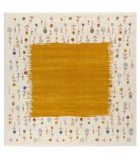 Alfombra de lana Coimbra 62. Color Oro. 200x200 cm.