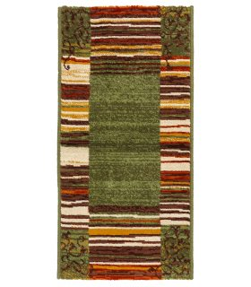 Alfombra de Lana Coimbra 175. Verde. 67x134 cm.
