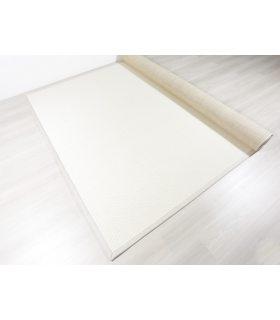 Alfombra de lana Nord 103. Color Blanco. Borde Tela PE Marfil.
