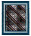 Geometrics 08 Azul. Alfombra de lana 250x350.