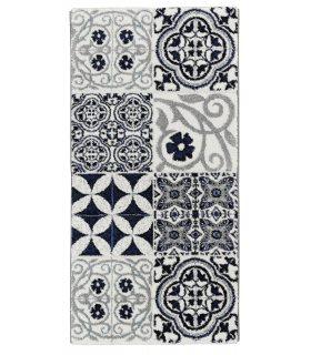 Azur 41. Alfombra Moderna con dibujo de baldosas hidráulicas. 60x120 cm.