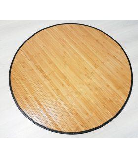 Alfombra de Bambú Redonda con borde PS ISOLA de 15 mm de ancho.