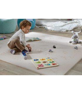 Alfombra protección suelo. Color Beige. Medidas 161x161 cm.