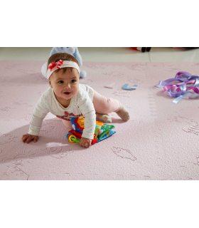 Alfombra para bebés. Color Rosa. Ambiente habitación infantil.