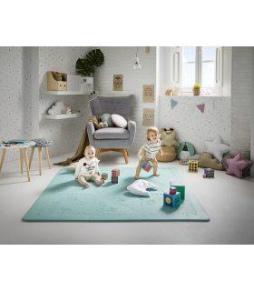 Alfombra Puzzle Infantil Lavable. Color Menta (Mint).