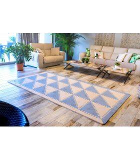 Alfombra infantil protección suelo. Color Azul-Beig. Medidas de 2 alfombras.