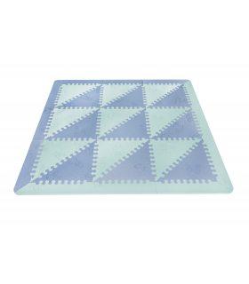 Alfombra infantil protección suelo. Color Mint-Azul. Medidas 161x161 cm.
