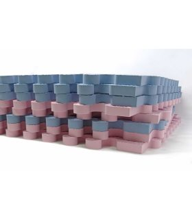 Alfombra infantil protección suelo. Color Rosa-Azul. Medidas 161x161 cm.