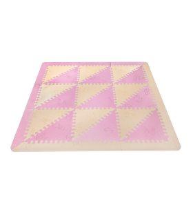 Alfombra infantil protección suelo. Color Rosa-Beige. Medidas 161x161 cm.