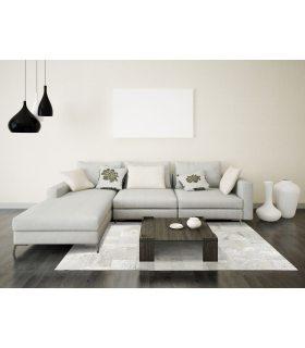 Alfombra de Piel Croco Blanco Medidas 210x300 cm. Color Blanco.