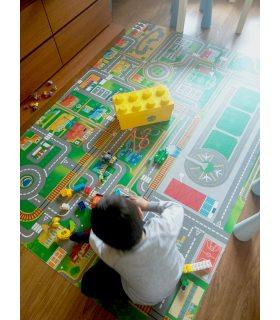 Alfombra Infantil de carreteras en Vinilo. Fotografía de Cliente.