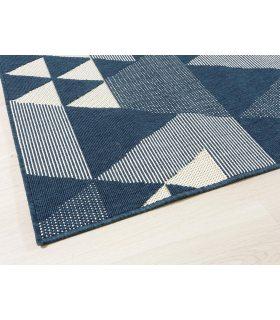 Claire 09. Alfombra para exterior-Interior. Color Azul.