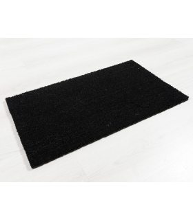 Felpudo de Coco. Color Negro. Medidas 40x70 cm. 17 mm de altura.