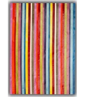 Vertical Stripes. Alfombra de Piel.