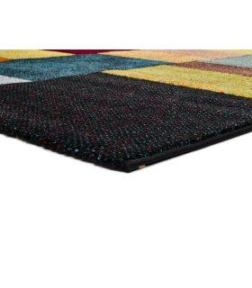 Valencia 67. Alfombra Estilo Geométrico de Colores. Detalle.