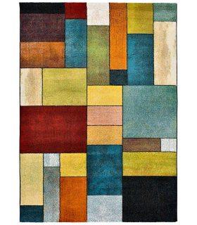 Valencia 67. Alfombra Estilo Geométrico de Colores.