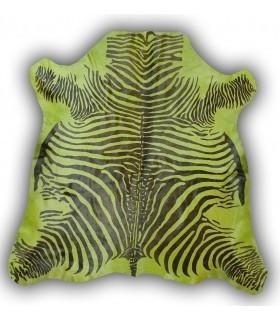 Piel de Cebra Tintada. Color Verde.