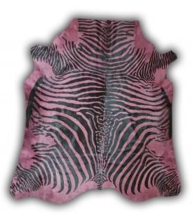 Piel de Cebra Tintada. Color Rosa.