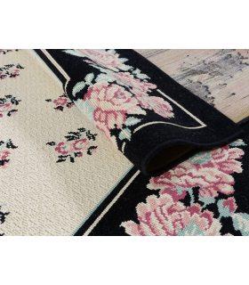 Osuna 21. Alfombra grande de lana diseño flores 240x335 cm. Detalle.