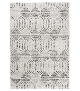 Alfombra estilo étnico bereber Mehari 287 Blanco