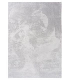 Alfombra lavable y antideslizante a medida Foxy. Color Plata.