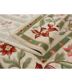 Alfombra Lana 100% con dibujo de flores modelo Córdoba 15. Medidas 170x240 cm.